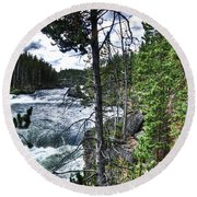 Yellowstone River II Round Beach Towel