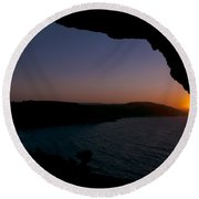Yes It's Summer.  Sunset Over Ramla Bay Round Beach Towel
