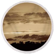 Yesteryears Sunset Round Beach Towel