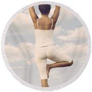 Yoga Round Beach Towel by Joana Kruse