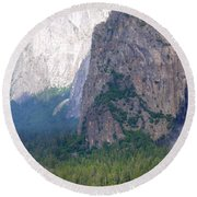 Yosemite Bridal Veil Fall Round Beach Towel