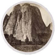Yosemite: Cathedral Rock Round Beach Towel