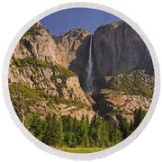 Yosemite Fall's Spring Flow Round Beach Towel