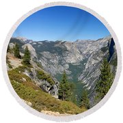 Yosemite Half Dome Round Beach Towel