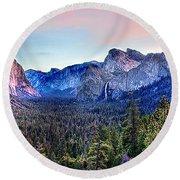 Yosemite Valley From Tunnel Round Beach Towel