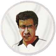 Younes El Aynaoui Round Beach Towel
