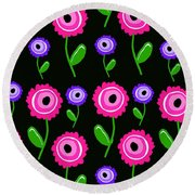 Young Florals  Round Beach Towel