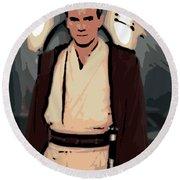 Young Obi Wan Kenobi Round Beach Towel