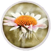 Young Petals Round Beach Towel