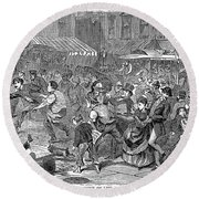 Young Thief, 1868 Round Beach Towel