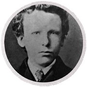 Young Vincent Van Gogh, Dutch Painter Round Beach Towel