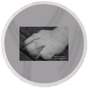 Young Wolf Paw Round Beach Towel