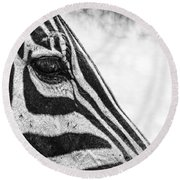 You've Got Zebra Eyes Round Beach Towel