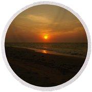 Yukatan Sunset Round Beach Towel