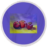 Yummy Apples Round Beach Towel