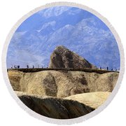 Zabriske Point Round Beach Towel