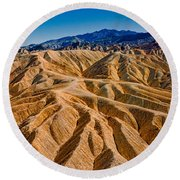 Zabriskie Point Badlands Round Beach Towel