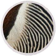 Zebra Caboose Round Beach Towel