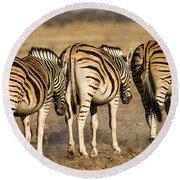 Zebras Three Round Beach Towel