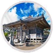 Zen Garden At A Sunny Morning Round Beach Towel
