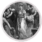 Zenobia (d. After 274 A.d.) Round Beach Towel