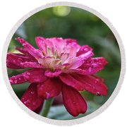 Zinnia Quenched Round Beach Towel