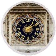 Zodiac Clock Round Beach Towel