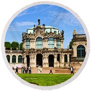 Zwinger Palace - Dresden Germany Round Beach Towel