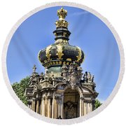 Zwinger Palace Crown Gate Round Beach Towel