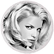 # 3 Jessica Simpson Portrait Round Beach Towel