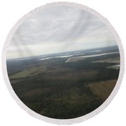Aerial View Of Fort Myers Round Beach Towel
