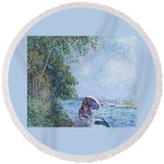 Afternoon In September Round Beach Towel