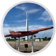 Air Force Museum At Cape Canaveral  Round Beach Towel