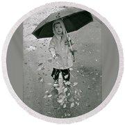 ... Another Rainy Day  Round Beach Towel