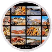 ' Australia Rocks ' - Bay Of Fires - Tasmania Round Beach Towel