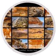 ' Australia Rocks ' - Maria Island - Tasmania Round Beach Towel