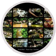 ' Australia Rocks ' Mossman Gorge - North Queensland Round Beach Towel