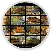 ' Australia Rocks ' - The Dripping Gorge - New South Wales Round Beach Towel