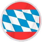 Bavaria Flag Round Beach Towel