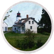 Burnt Island Maine Round Beach Towel