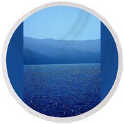 Catalina Island, #2 - Seascape, 1978 Round Beach Towel