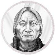 Chief Sitting Bull Round Beach Towel