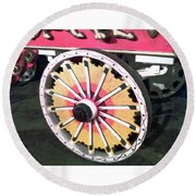 Circus Wagon Wheel Round Beach Towel