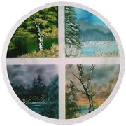 Colors Of Landscape Round Beach Towel