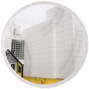 High Museum Of Art - Atlanta - Usa Round Beach Towel