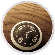 In Waves Of Lost Time Round Beach Towel