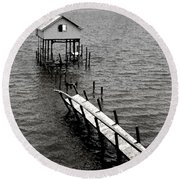 Indian River Pier Round Beach Towel