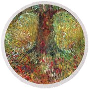 Invisible Tree Round Beach Towel