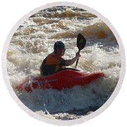 Kayak 3 Round Beach Towel