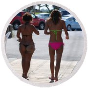 L W Thong Round Beach Towel